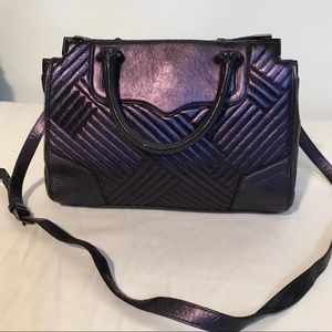 Rebecca Minkoff Purple Iridescent Satchel Bag